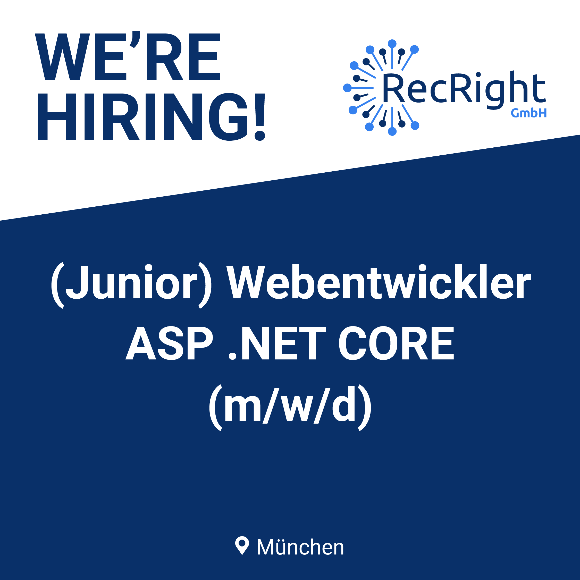 (Junior) Webentwickler ASP.NET CORE in München