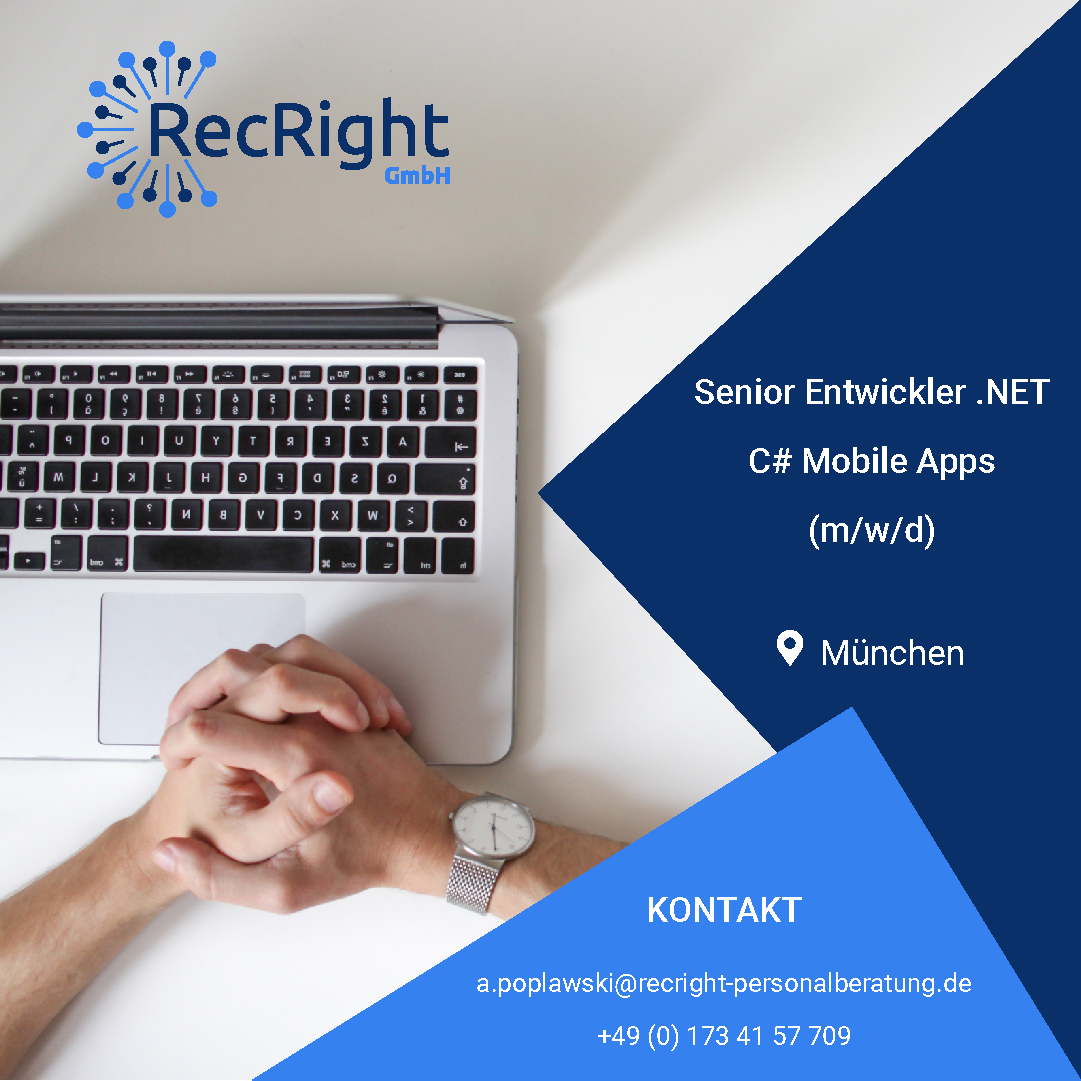 Senior Entwickler .NET C# Mobile Apps (m/w/d)